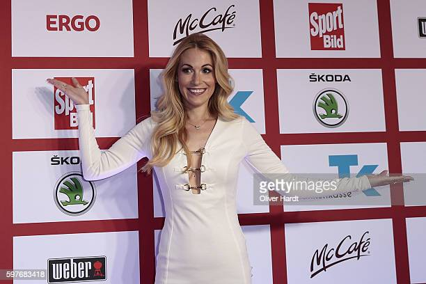Andrea Kaiser poses for a picture at the Sport Bild Award 2016 at Fischauktionshalle on August 29 2016 in Hamburg Germany