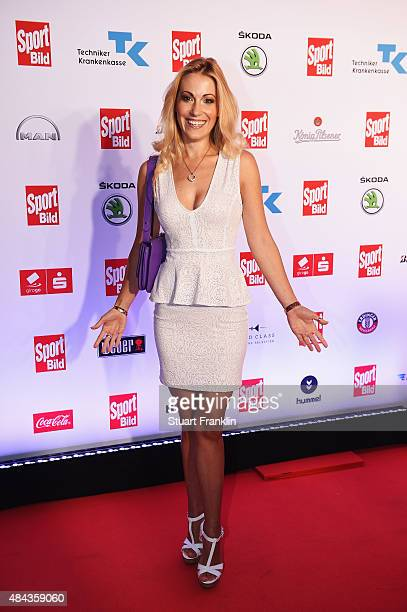 Andrea Kaiser poses for a picture at the Sport Bild Awards 2015 on August 17 2015 in Hamburg Germany