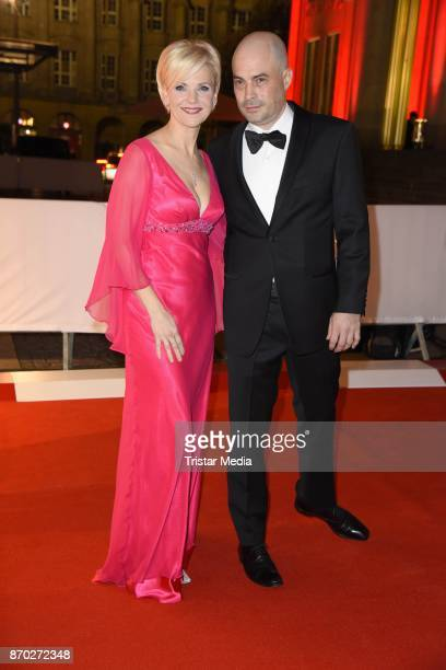 Andrea Kathrin Loewig and her boyfriend Andreas Thiele attend the Leipzig Opera Ball on November 4 2017 in Leipzig Germany