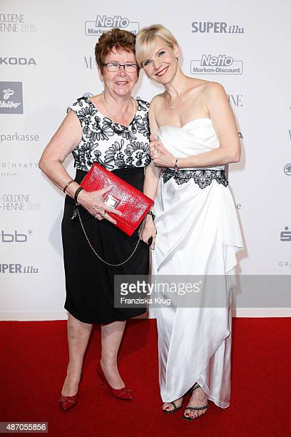 Andrea Kathrin Loewig and her mother Christa attend Madeleine At Goldene Henne 2015 on September 05 2015 in Berlin Germany