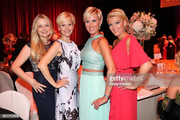 Andrea Kathrin Loewig and her sister Kerstin Ohlemann and Kamilla Senjo and her sister Juliana Senjo during the Leipzig Opera Ball 'Let's dance...