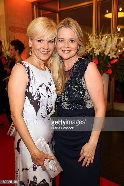 Andrea Kathrin Loewig and her sister Kerstin Ohlemann during the Leipzig Opera Ball 'Let's dance Dutch' at alte Oper on September 10 2016 in Leipzig...