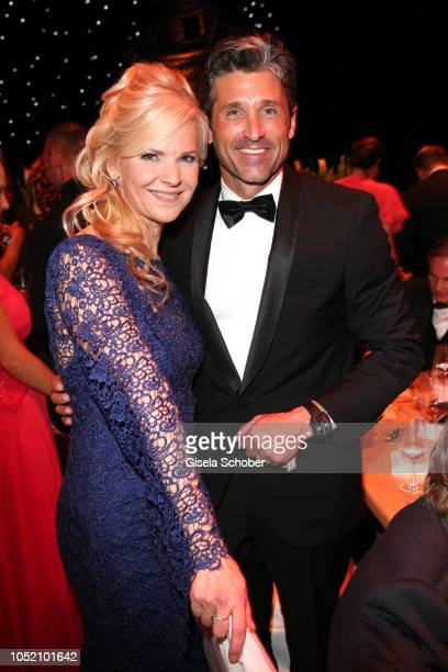 Andrea Kathrin Loewig and Patrick Dempsey during the Leipzig Opera Ball 'Ahoj Cesko' on October 13 2018 in Leipzig Germany