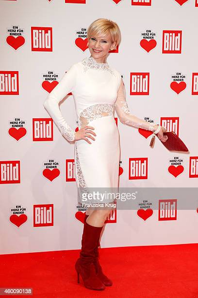 Andrea Kathrin Loewig attends the Ein Herz Fuer Kinder Gala 2014 Red Carpet Arrivals on December 6 2014 in Berlin Germany