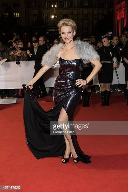 Andrea Kathrin Loewig attends the Opera Ball Leipzig at Opernhaus on October 18 2014 in Leipzig Germany