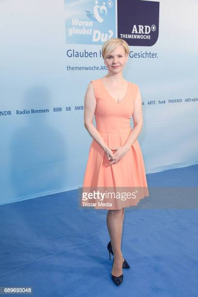 Andrea Kathrin Loewig during the ARD Themenwoche 2017 'Woran glaubst Du' at Soho House on May 29 2017 in Berlin Germany