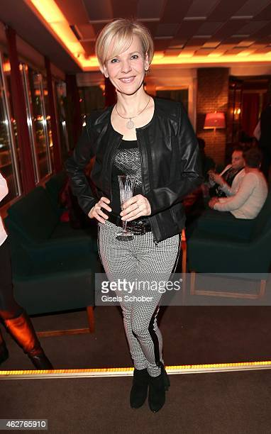Andrea Kathrin Loewig during the birthday celebration of Maren Gilzer's 55th birthday on February 4 2015 in Berlin Germany Welcome Home Show at 15th...