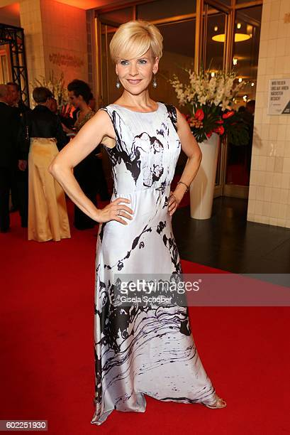 Andrea Kathrin Loewig during the Leipzig Opera Ball 'Let's dance Dutch' at alte Oper on September 10 2016 in Leipzig Germany