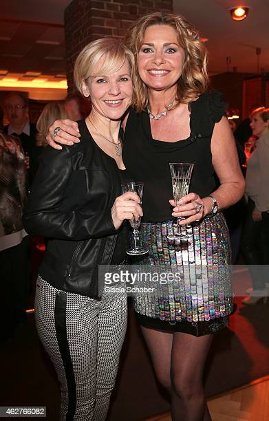Andrea Kathrin Loewig Maren Gilzer during the birthday celebration of Maren Gilzer's 55th birthday on February 4 2015 in Berlin Germany Welcome Home...