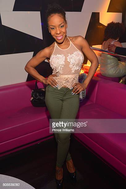 Andrea Kelly attends an MLK Celebration at Gold Room on January 17 2016 in Atlanta Georgia