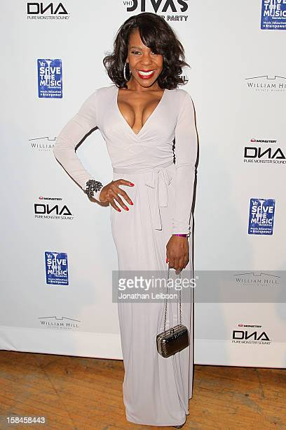 Andrea Kelly attends the VH1 Divas After Party To Benefit The VH1 Save The Music Foundation at The Shrine Auditorium on December 16 2012 in Los...