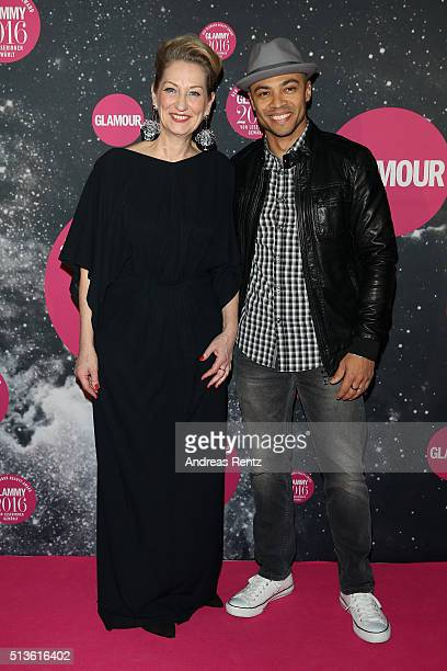 Andrea Ketterer and Lee Anduze attend the Glammy 2016 Award Ceremony at Postpalast on March 3 2016 in Munich Germany