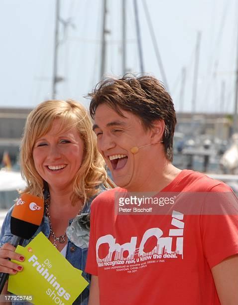 Andrea Kiewel Matze Knop ZDFShow Die Frühlingsshow Yachthafen Marina Rubic—n Playa Blanca Insel Lanzarote Kanarische Insel Kanaren Spanien Europa...