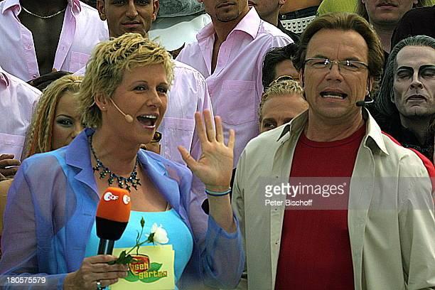 Andrea Kiewel Wolfgang Lippert ZDFFernsehgarten schwanger Moderation Publikum Mikrophon Mikrofon