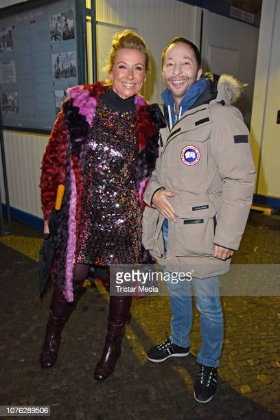 Andrea Kiwi Kiewel and DJ Bobo during the ZDF TV Show 'Willkommen 2019' New Years Eve Party at Brandenburg Gate on December 31 2018 in Berlin Germany