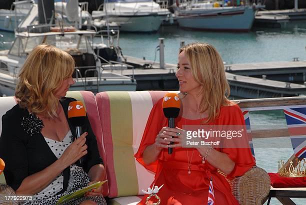Andrea 'Kiwi' Kiewel Patricia Schäfer beim 'RoyalTalk' über die Hochzeit von Prinz William von England und Verlobte Kate Middleton am ZDFShow 'Die...
