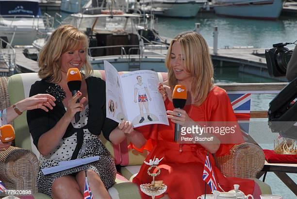 Andrea 'Kiwi' Kiewel Patricia Schäfer ZDFShow 'Die Frühlingsshow' Yachthafen Marina Rubic—n Terrasse 'Lanis Grill' Playa Blanca Insel Lanzarote...