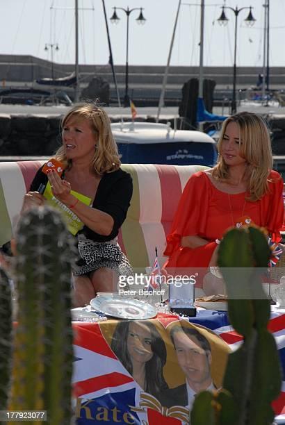 Andrea Kiwi Kiewel Patricia Schäfer ZDFShow Die Frühlingsshow Yachthafen Marina Rubic—n Terrasse Lanis Grill Playa Blanca Insel Lanzarote Kanarische...