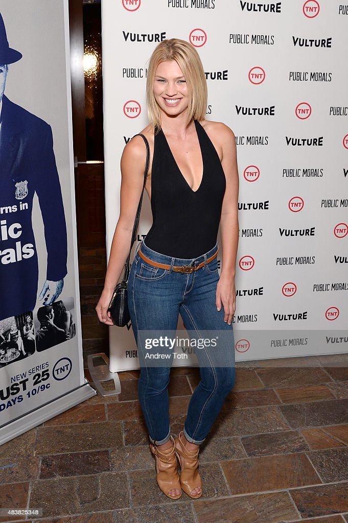 Andrea Kronberg attends the 'Public Morals' New York series screening at Tribeca Grand Screening Room on August 12, 2015 in New York City.