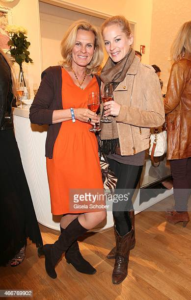 Andrea L' Arronge and her daughter Jessica during the TWINSET Simona Barbieri FlagshipStore Opening Event on March 18 2015 in Munich Germany