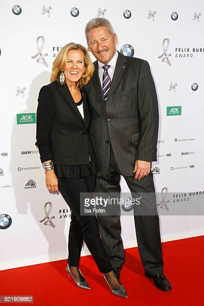 Andrea L Arronge and her husband Charly Reichenwallner attend the Felix Burda Award 2016 on April 17 2016 in Munich Germany