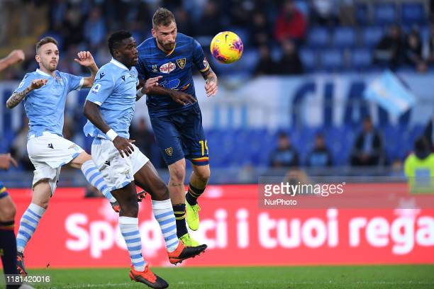 Andrea La Mantia of US Lecce scores second goal during the Serie A match between SS Lazio and US Lecce at Stadio Olimpico Rome Italy on 10 November...