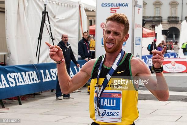 Andrea Lalli the first italian of Turin Marathon 20014 on november 16 2014 in Torino Italy