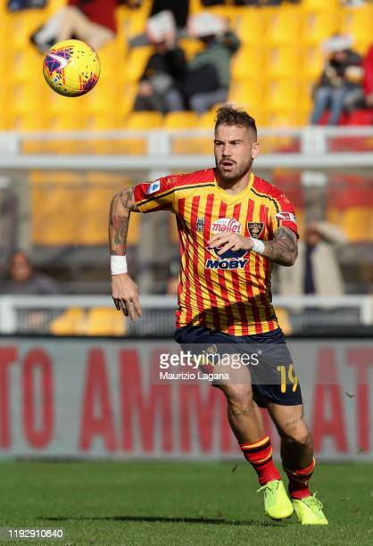 Andrea Lamantia of Lecce during the Serie A match between US Lecce and Genoa CFC at Stadio Via del Mare on December 8, 2019 in Lecce, Italy.