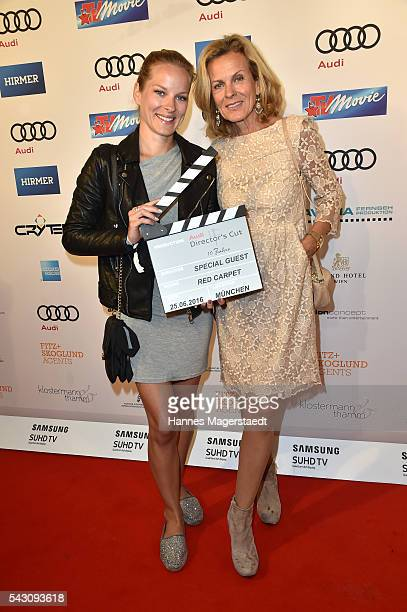 Andrea L'Arronge and her daughter Jessica during the Audi Director's Cut during the Munich Film Festival 2016 at Praterinsel on June 25 2016 in...