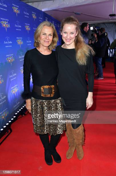 Andrea L'Arronge and her daughter Jessica Reichenwallner attend the premiere of Totem by Cirque du Soleil at Theresienwiese on February 13 2020 in...