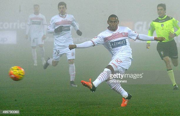Andrea Lazzari of Carpi FC in action during the TIM Cup match between Carpi FC and AC Vicenza Calcio at Alberto Braglia Stadium on December 3 2015 in...