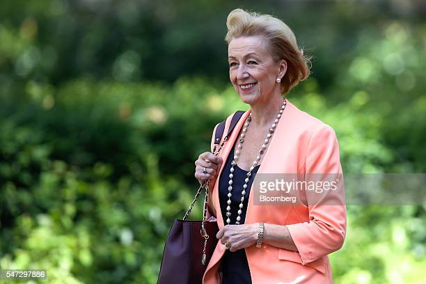 Andrea Leadsom arrives to be named UK environment secretary at 10 Downing Street in London UK on Thursday July 2016 Theresa May announced her team to...