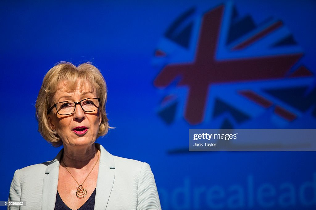 Andrea Leadsom Holds A Rally To Bid For Support In The Conservative Leadership : News Photo