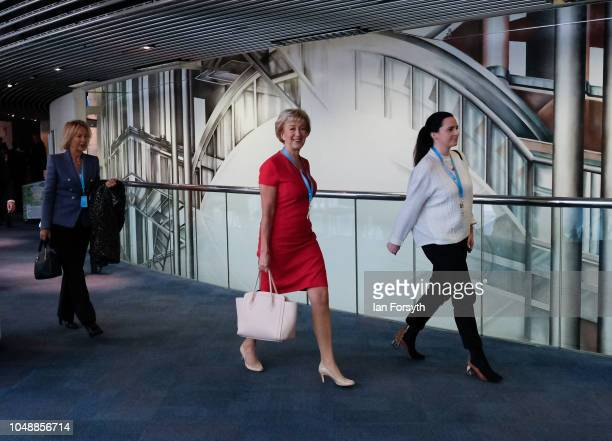 Andrea Leadsom Leader of the House of Commons Lord President of the Council makes her way to Symphony Hall in the International Convention Centre...