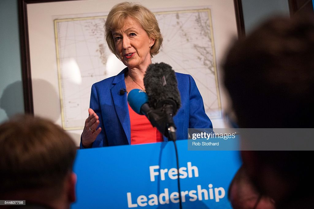 Leave Campaigner Andrea Leadsom MP Launches Her Bid For The Conservative Party Leadership : News Photo