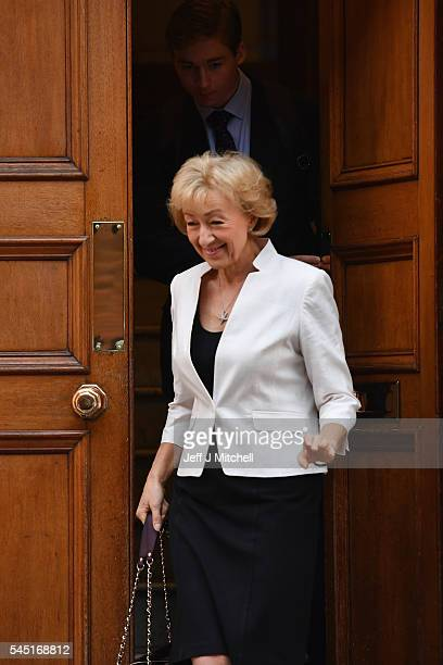 Andrea Leadsom Member of Parliament for South Northamptonshire and Minister of State at Department of Energy and Climate Change leaves her home in...