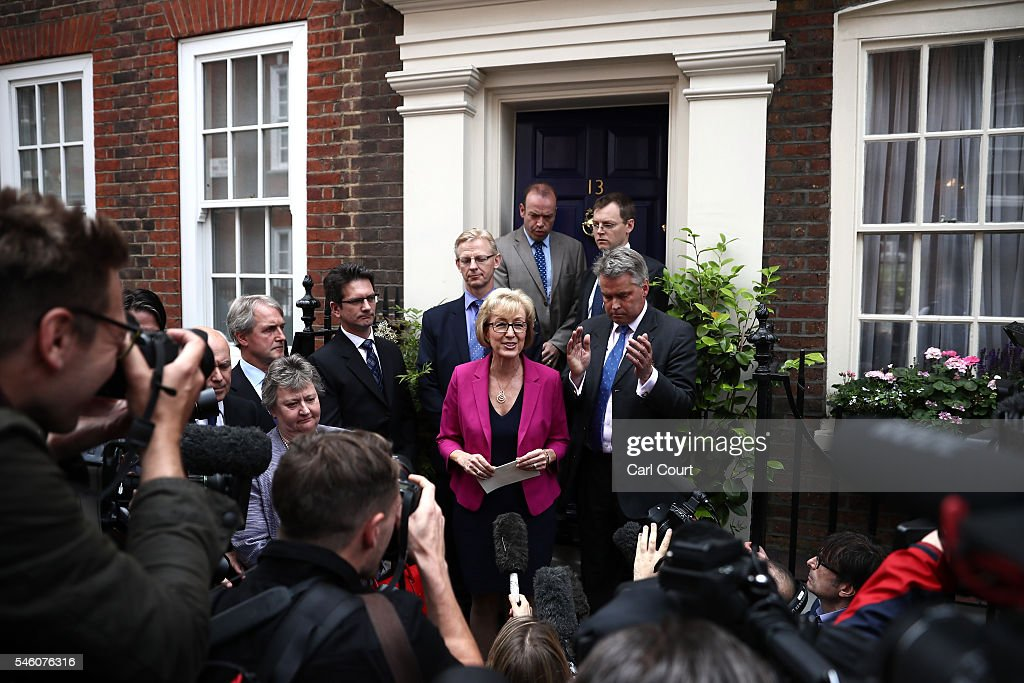 Andrea Leadsom Pulls Out Of The Conservative Leadership Race : News Photo