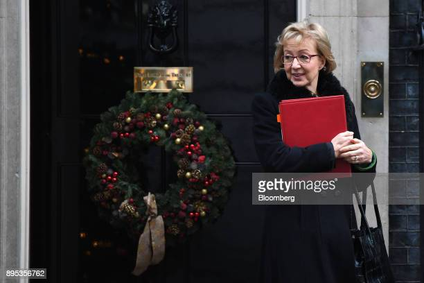 Andrea Leadsom UK leader of the House of Commons departs following a cabinet meeting at number 10 Downing Street in London UK on Tuesday Dec 19 2017...