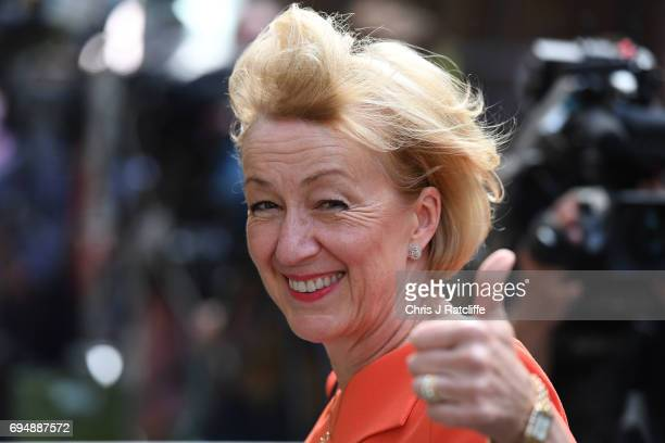 Andrea Leadsom who has been made Leader of the House of Commons leaves 10 Downing Street on June 11 2017 in London England Prime Minister Theresa May...
