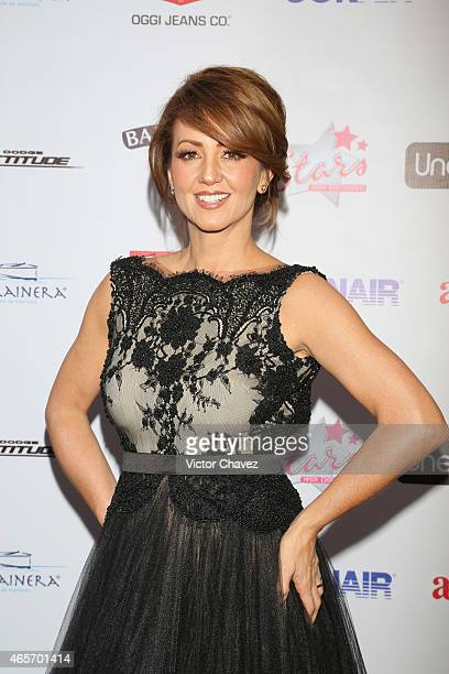 Andrea Legarreta arrives at Premios TV y Novelas 2015 at Televisa San Angel on March 9 2015 in Mexico City Mexico