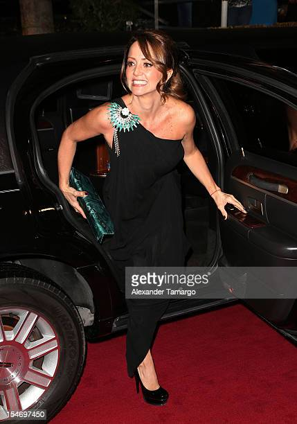 Andrea Legarreta arrives at Sabado Gigante 50th Anniversary Celebration at Univision Headquarters on October 24 2012 in Miami Florida