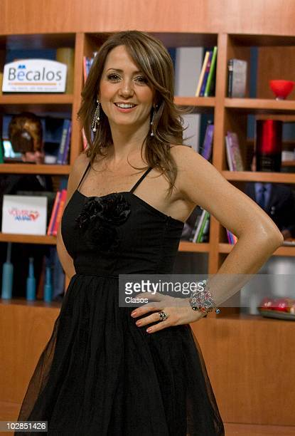 Andrea Legarreta poses for a photograph during a celebration for her birthday at Televisa San Angel on July 12 2010 in Mexico City Mexico