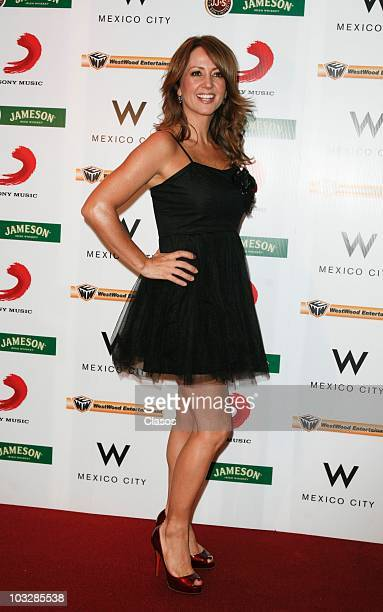 Andrea Legarreta poses for photos at the red carpet of the launch of the video Tu Voz at W Hotel on August 6 2010 in Mexico City Mexico