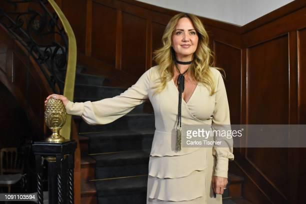 Andrea Legarreta poses for photos during the filming of the movie 'Mama se fue de viaje' at Circulo Cubano de Mexico on January 7 2019 in Mexico City...