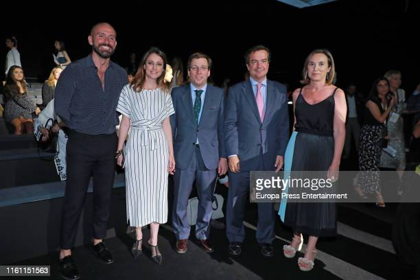 Andrea Levy and Jose Luis MartinezAlmeida attend Devota Lomba fashion show during the Mercedes Benz Fashion Week Spring/Summer 2020 on July 09 2019...