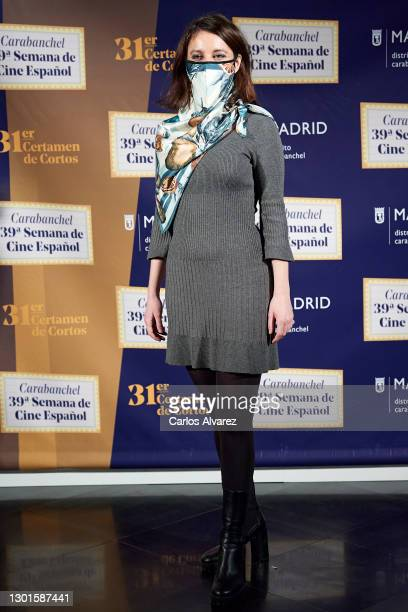 Andrea Levy attends the 39th Carabanchel Cinema Week inauguration on February 11, 2021 in Madrid, Spain.