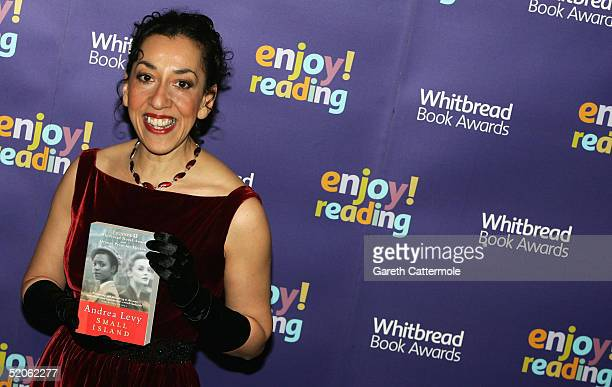 Andrea Levy author of Small Island arrives at the Whitbread Book Awards 2004 at the The Brewery on January 25 2005 in London The annual awards has...