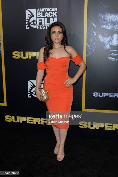 Andrea Londo attends Opening Night Screening 'Superfly' at the FIllmore Miami Beach during the 22nd Annual American Black Film Festival on June 13...
