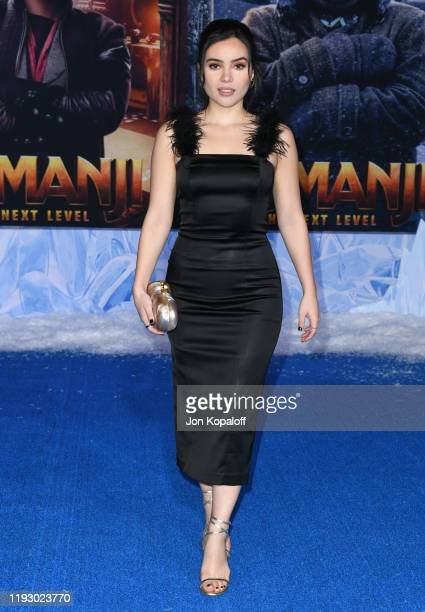 "Andrea Londo attends the premiere of Sony Pictures' ""Jumanji: The Next Level"" on December 09, 2019 in Hollywood, California."