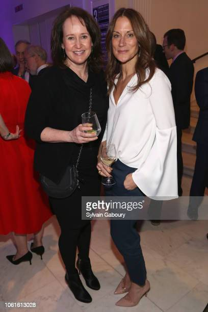 Andrea London and Kathy Angele attend Museum Of The City Of New York Louis Auchincloss Prize Gala at Museum of the City of New York on November 14...